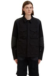 7L Field Layer Cargo Pocket Jacket Black