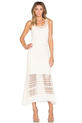 Deby Debo Helias Crochet Maxi Dress Ivory