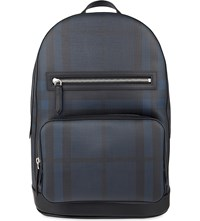 Burberry Marden Checked Backpack Navy