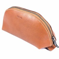 Tuktuk Leather Pouch Case Brown