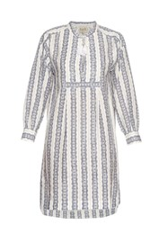 Sea Striped Linen Long Sleeved Dress