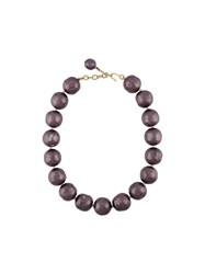 Chanel Vintage Faux Pearl Choker Necklace Pink And Purple