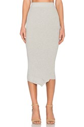 Inhabit Asymmetrical Midi Skirt Gray