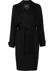 Zac Posen 'Farrah' Trench Coat Black