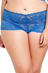 Deesse Lingerie Plus Size Women's By Addition Elle Lace Boyshorts Imperial Blue