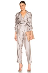 Carolina Ritz 89 Jumpsuit In Gray Metallics