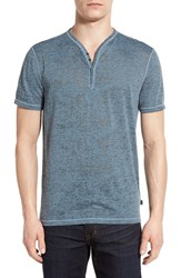 Men's John Varvatos Star Usa Short Sleeve Burnout Blue Stone