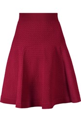 Sandro Jony Pleated Stretch Knit Skirt Claret