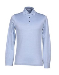 Zanieri Polo Shirts Sky Blue