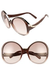 Chloe Women's Mandy Oversized Oval 61Mm Sunglasses Gradient Turtledove