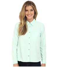 Mountain Hardwear Canyon Long Sleeve Shirt Sea Ice Women's Long Sleeve Button Up Blue