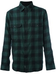 Rag And Bone Checked Flannel Shirt Green