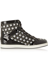 Jimmy Choo Tokyo Cutout Leather Sneakers Black