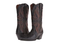 Ariat Heritage Western X Toe Old Black Cowboy Boots