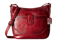 Frye Melissa Button Crossbody Burgundy Cross Body Handbags