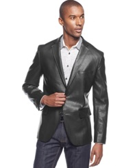 Inc International Concepts Slim Fit Faux Leather Blazer Only At Macy's