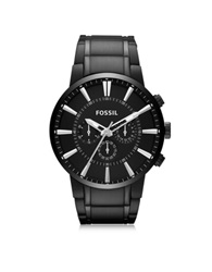Fossil Others Black Stainless Steel Men's Cronograph Watch