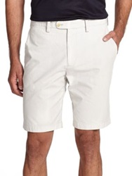 Saks Fifth Avenue Seersucker Bermuda Shorts Khaki Navy