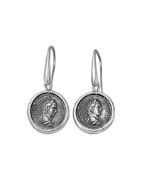 1884 Jewelry Legacy Silver Medium Pius Coin Drop Earrings Women's