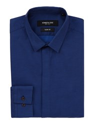 Kenneth Cole Men's Lenox Textured Shirt Blue