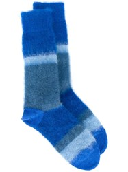 Paul Smith Striped Tonal Socks Blue