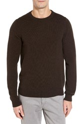 Nordstrom Men's Big And Tall Men's Shop Cashmere Crewneck Sweater Brown Seal