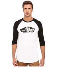 Vans Otw Raglan White Black Black Men's Long Sleeve Pullover