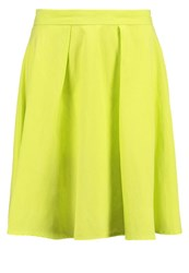 United Colors Of Benetton Pleated Skirt Neon Yellow