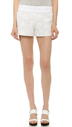 Derek Lam Floral Embroidred Boxer Shorts Soft White
