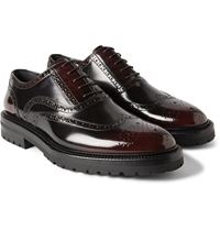 Burberry Burnished Glossed Leather Brogues