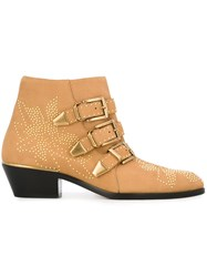 Chloe 'Susanna' Ankle Boots Nude And Neutrals