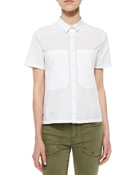 Zadig And Voltaire Short Sleeve Woven Blouse Large