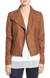 Marc New York Women's By Andrew 'Felix' Stand Collar Leather Jacket Whiskey