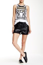 Madison Square Wilde Heart Wild Night Leatherette Short Black