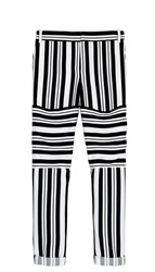 Tibi Summer Stripe Cuffed Pants