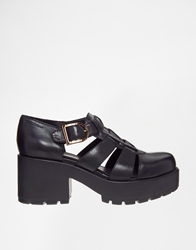 Dioon Black Leather Heeled Shoes