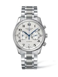 Longines Two Tonal Stainless Steel Automatic Bracelet Watch White
