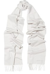 Bottega Veneta Fringed Cashmere Scarf Cream