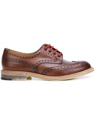 Junya Watanabe Comme Des Garcons Man Contrast Lace Oxford Shoes Brown