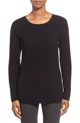 Women's Nordstrom Collection Ribbed Cashmere Sweater Black