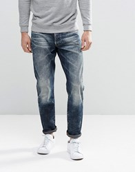 G Star 3301 Tapered Jeans In Dark Aged Dk Aged Blue