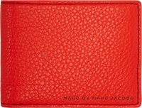 Marc By Marc Jacobs Red Grained Leather Martin Bifold Wallet