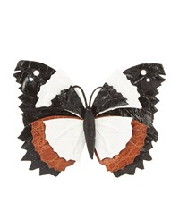 Nancy Gonzalez Butterfly Bag Clip Female Black Tan