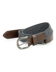 Nautica Leatherette And Denim Belt Grey
