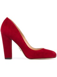 Paul Andrew Classic Court Pumps Red