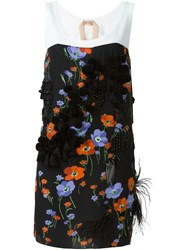 No21 Floral Print Tank Dress Black