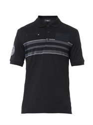 Givenchy Banded Stripe Polo Shirt
