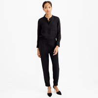 J.Crew Drapey Oxford Crepe Long Sleeve Jumpsuit