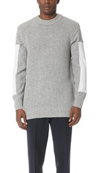 N.Hoolywood Sleeve Insert Knit Sweater Gray