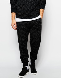 Native Youth Space Dye Tracksuit Bottoms Black